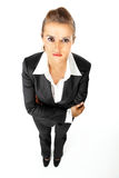 Serious business woman with crossed arms on chest Royalty Free Stock Photos