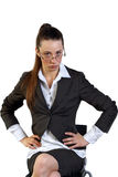 Serious business woman in glasses Stock Image