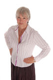 Serious Business Woman with Hands on Hips Royalty Free Stock Images