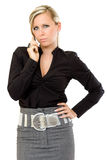 Serious business woman making a call Stock Photos