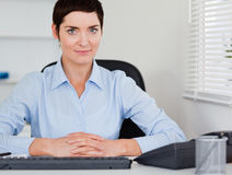 Serious business woman posing Stock Photos