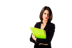 Serious business woman Royalty Free Stock Images