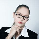 Serious business woman Stock Images