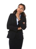 Serious business woman thinking Royalty Free Stock Image