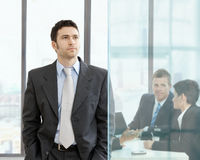 Serious businessman Stock Image