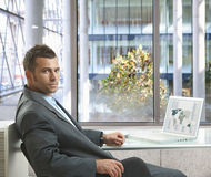 Serious businessman Stock Photos