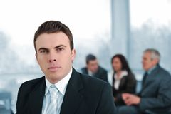 Serious businessman in company Royalty Free Stock Photo