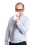 Serious businessman drinking coffee Stock Photo