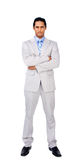 Serious businessman with folded arms Stock Photography