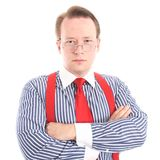 Serious businessman with glasses Royalty Free Stock Photo