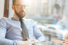 Serious businessman Royalty Free Stock Image