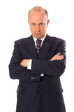 Serious businessman looking at camera. Isolated on white Royalty Free Stock Image