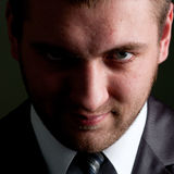 Serious businessman looking to you Royalty Free Stock Photo