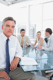 Serious businessman during a meeting Stock Image