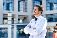 Serious businessman, outdoor Stock Photography