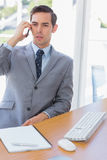 Serious businessman on the phone Stock Photos