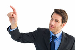 Serious businessman pointing at something Royalty Free Stock Photography