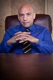 Serious businessman portrait stock photo