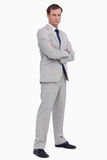Serious businessman standing with his arms folded Royalty Free Stock Images
