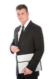 Serious businessman in a suit Royalty Free Stock Photo