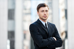 Serious businessman. Stock Photo