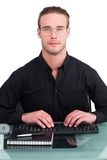 Serious businessman working at his desk Royalty Free Stock Image