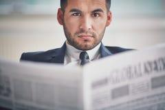 Serious businessman Stock Images