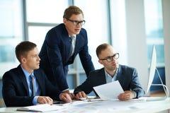 Serious businessmen Stock Photo