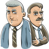 Serious Businessmen. Two serious, cartoon businessmen ready to get tough Stock Images