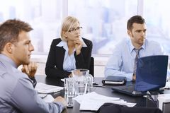 Serious businesspeople at meeting Stock Photo
