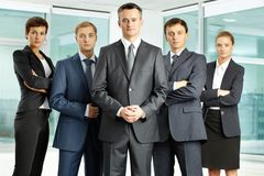 Serious businessteam Royalty Free Stock Photos