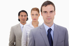 Serious businessteam lined up Stock Photography