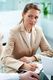 Serious businesswoman Royalty Free Stock Images