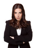 Serious Businesswoman. Serious Woman  on white background Stock Images