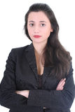 Serious businesswoman in black suit Royalty Free Stock Photography