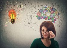 Businesswoman has ideas royalty free illustration