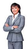 Serious businesswoman with folded arms Royalty Free Stock Image