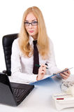 Serious businesswoman in glasses Stock Image