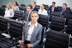 Serious businesswoman Stock Photography