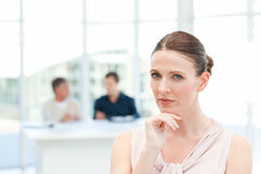 Serious businesswoman looking at the camera Royalty Free Stock Photo