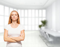 Serious businesswoman in the office Stock Image