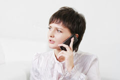 Serious businesswoman on phone Stock Photography