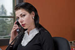 Serious Businesswoman On The Phone Royalty Free Stock Photography