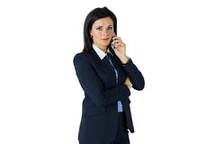 Serious businesswoman on the phone Stock Images