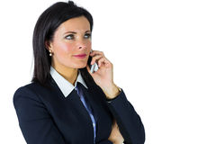 Serious businesswoman on the phone Royalty Free Stock Image