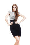 Serious businesswoman in skirt Royalty Free Stock Photo