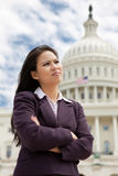 Serious Businesswoman in Washington Royalty Free Stock Images