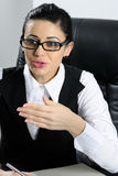Serious businesswoman working Royalty Free Stock Photography