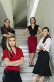 Serious Businesswomen On Stairs Stock Images