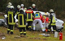 Serious car crash Stock Image